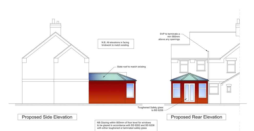 Architects extension design architect plans & drawings