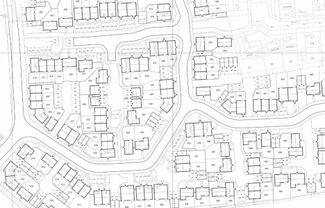 Architects Detailed CAD layout for a national housing developer, architect drawing plans