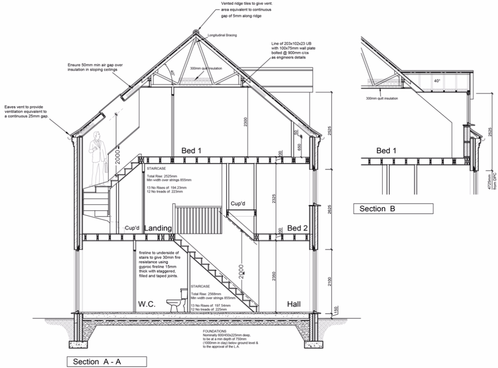 Architect Section Plans working drawing architects 2, Spalding