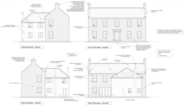 Architects extension design architect plans & drawings allisons detached 3 bed house georgian farmhouse elevation